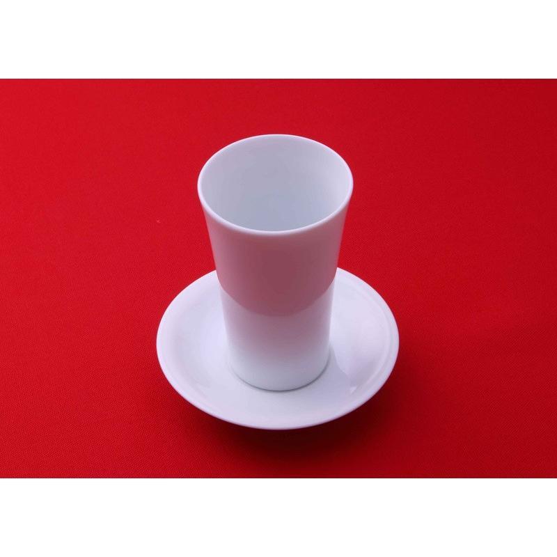 酒器  杯台(皿形)・猪口(天開グラス型)セット kikusui-sake 02