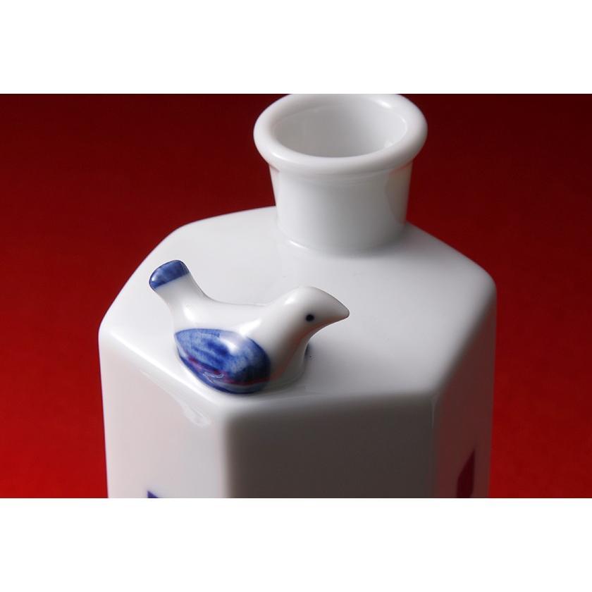 酒器 菊水 オリジナル うぐいす徳利(市松模様)|kikusui-sake|02