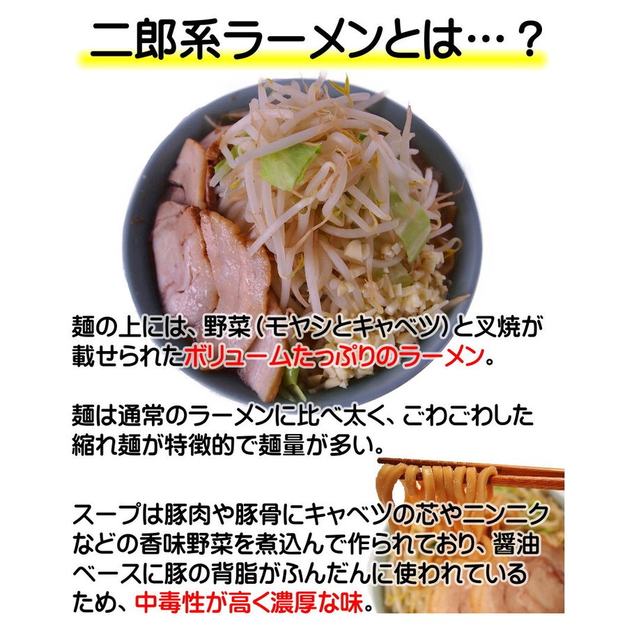 【メール便(2食)】まずはお試し!濃厚にんにく醤油味!≪二郎系 ラーメン2食セット≫二郎系インスパイア|kikyoan|03