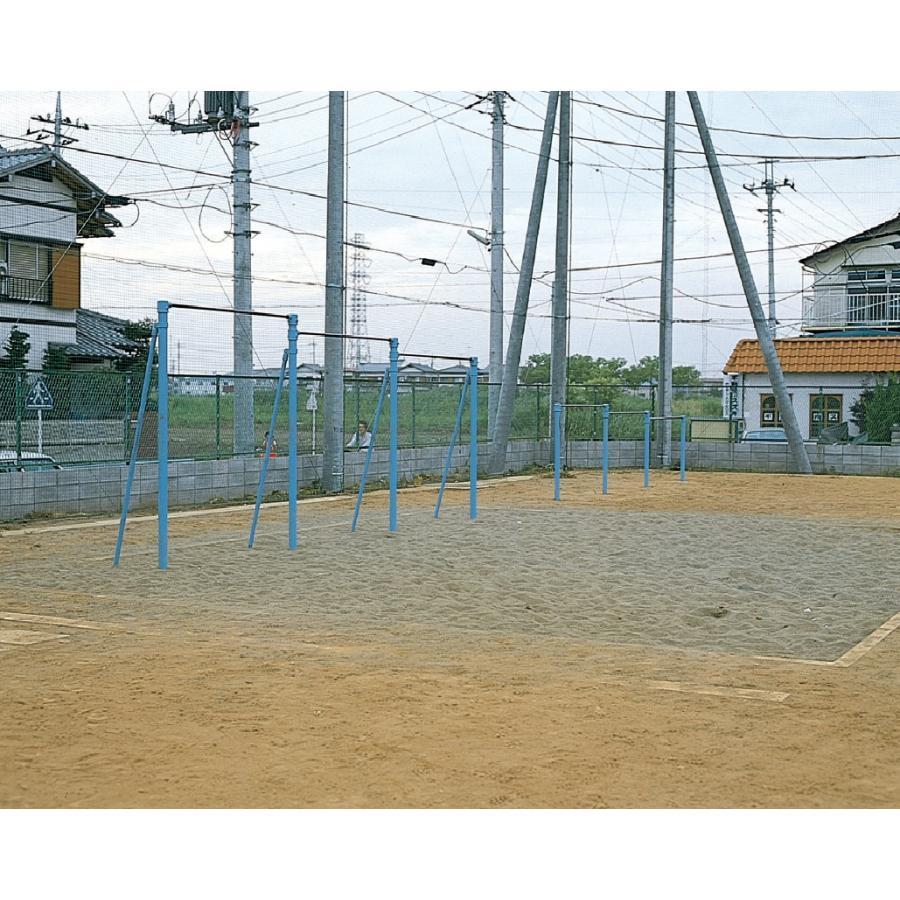 【送料別】単柱式高鉄棒控え付 基本の1欄 【三和体育】S-8575