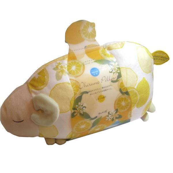 レモンおやすみ羊 涼感お昼寝まくら・ドッグアイピローとメッセージ入浴剤のセット kimochidesu-net 02