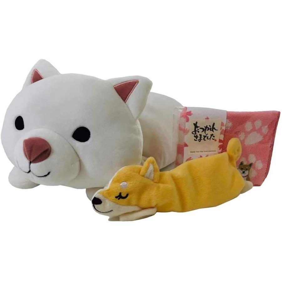 柴犬の「しらいしさん」くつろぎ枕・アイピローとミニタオル(メッセージ付き)のセット|kimochidesu-net|03