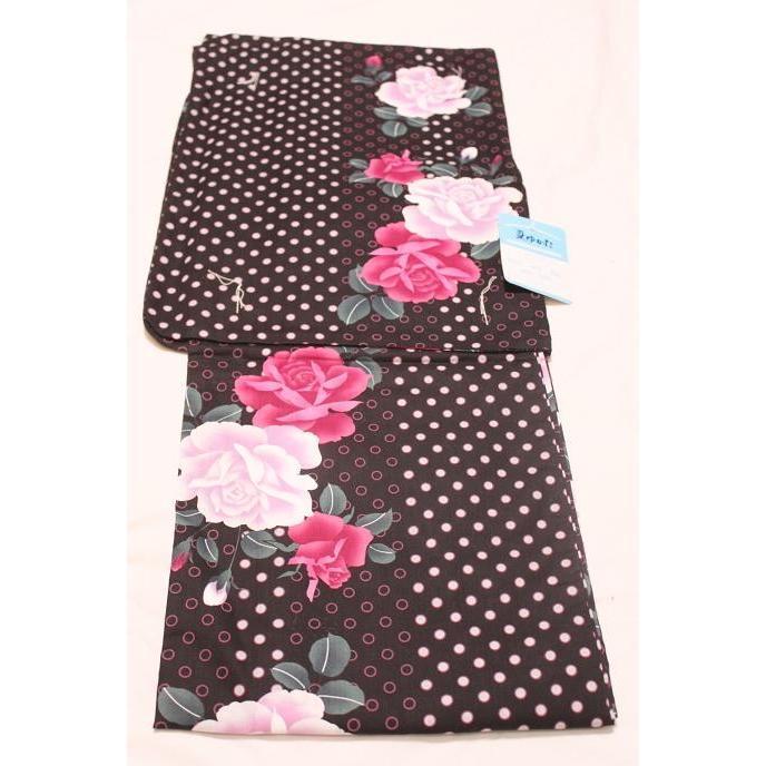 新品/ 水玉にバラの可愛い浴衣|kimono-himesakura