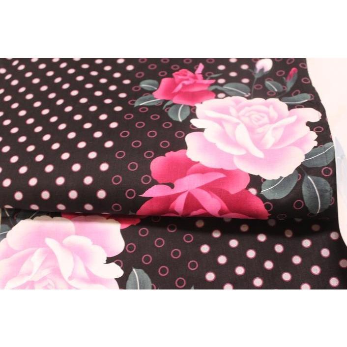 新品/ 水玉にバラの可愛い浴衣|kimono-himesakura|02