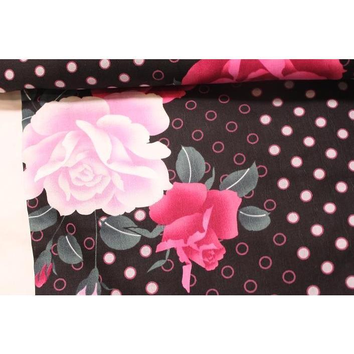 新品/ 水玉にバラの可愛い浴衣|kimono-himesakura|03