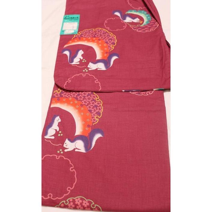 新品/ リス柄の浴衣 kimono-himesakura