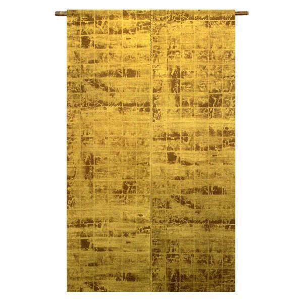【送料無料】手刷りのれん 金彩 京粋見立て 麻100% 88×150cm 暖簾 万葉舎