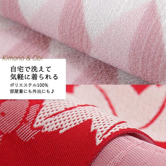洗えるはんてん 着物 半幅帯 足袋ソックス 4点 コーディネートセット M L 選べる8柄 リバーシブル レディース ルームウェア 和装 和服 送料無料 2021 新春福袋|kimono-kyoukomati|17
