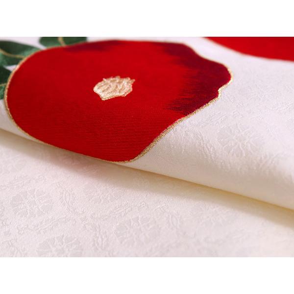 卒業式 二尺袖 着物 袴用 単品 オフホワイト 赤 椿 刺繍 紋意匠 フリーサイズ 購入 販売 着物のみ 2尺袖 和装 和服 洗える着物 レディース 送料無料|kimono-kyoukomati|02