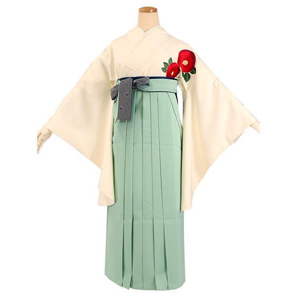 卒業式 二尺袖 着物 袴用 単品 オフホワイト 赤 椿 刺繍 紋意匠 フリーサイズ 購入 販売 着物のみ 2尺袖 和装 和服 洗える着物 レディース 送料無料|kimono-kyoukomati|08