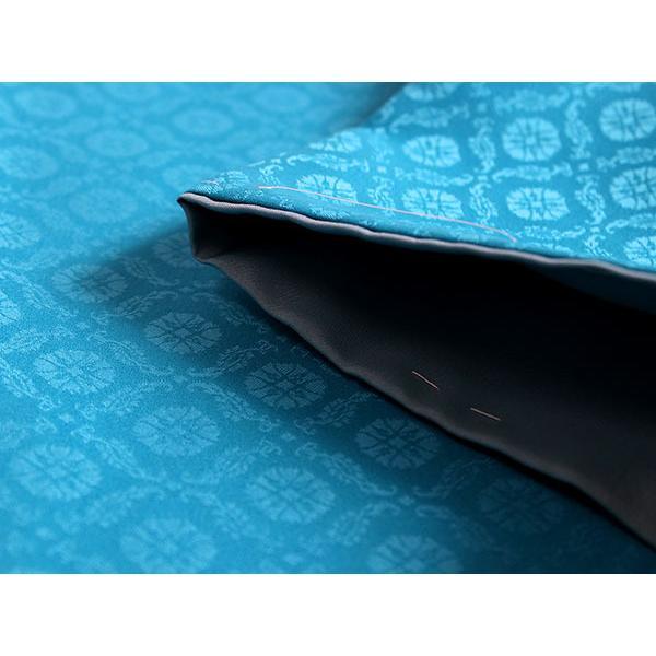 卒業式 二尺袖 着物 袴用 単品 エメラルドブルー 白 椿 紋意匠 フリーサイズ 購入 販売 着物のみ 2尺袖 和装 和服 洗える着物 レディース 送料無料 kimono-kyoukomati 03