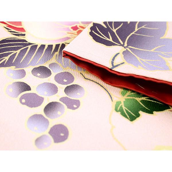 卒業式 二尺袖 着物 袴用 単品 絵羽柄 桃色 ピンク ぶどう 蘭 フリーサイズ 購入 販売 着物のみ 2尺袖 和装 和服 洗える着物 レディース 送料無料 kimono-kyoukomati 03