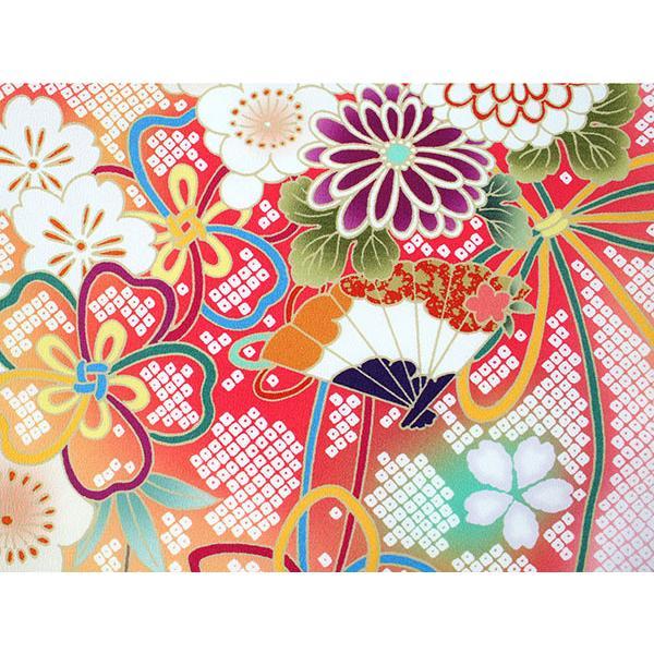 卒業式 二尺袖 着物 袴用 単品 絵羽柄 白 ピンク 薬玉 牡丹 鹿の子 フリーサイズ 購入 販売 着物のみ 2尺袖 和装 洗える着物 レディース 送料無料|kimono-kyoukomati|05
