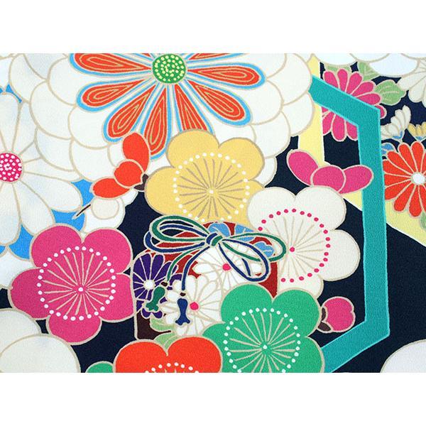 卒業式 二尺袖 着物 袴用 単品 絵羽柄 紫 濃紺 菊 梅 フリーサイズ 購入 販売 着物のみ 2尺袖 和装 和服 洗える着物 レディース 送料無料|kimono-kyoukomati|04