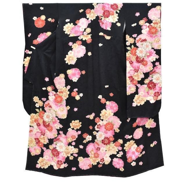 振袖 正絹 長襦袢 2点セット 花文様 仕立て上がり ピンク LLサイズ ふくよか spo7201-ikna250