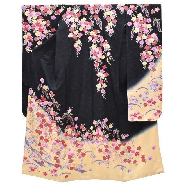 振袖 正絹 長襦袢 2点セット 花文様 仕立て上がり ピンク LLサイズ ふくよか spo7207-ikna250
