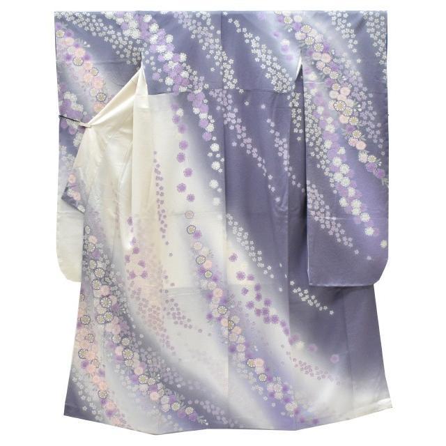 振袖 正絹 長襦袢 2点セット 花文様 仕立て上がり ピンク LLサイズ ふくよか spo7209-ikna250