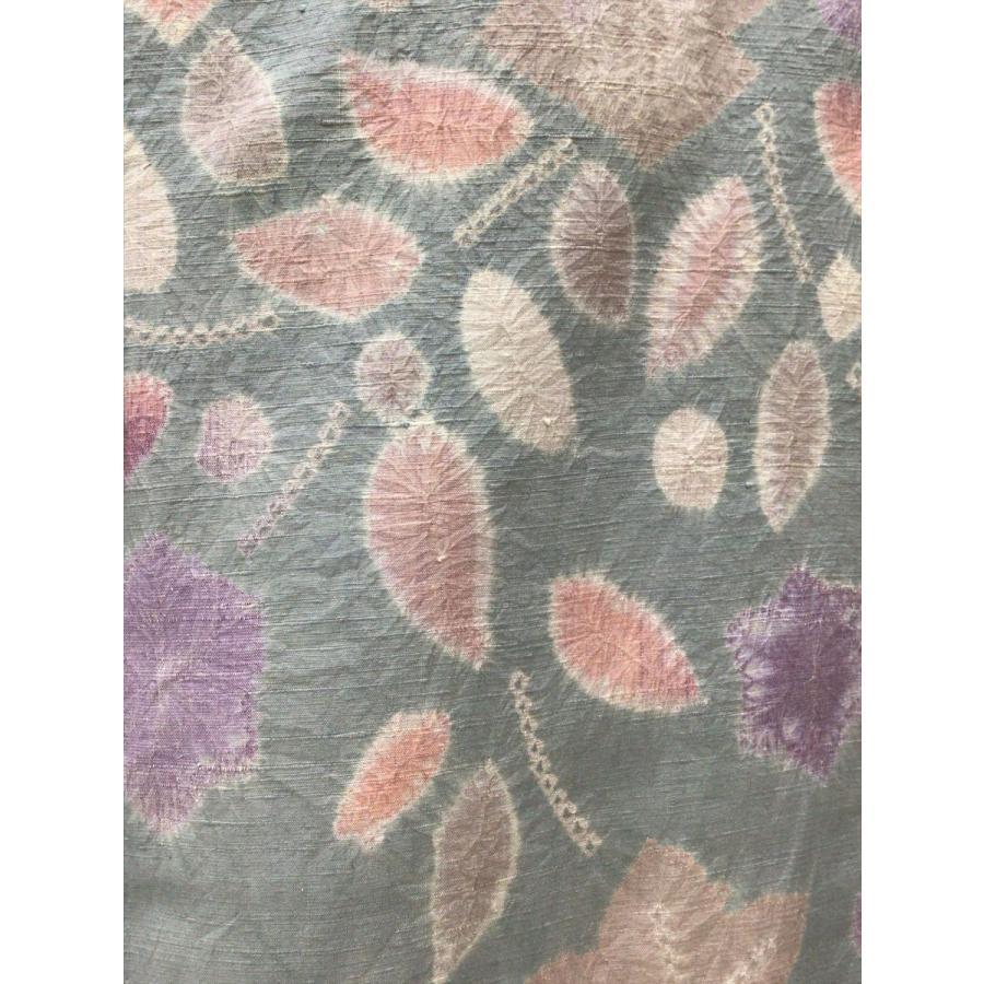 絞り染め紬|kimono-waraji|05