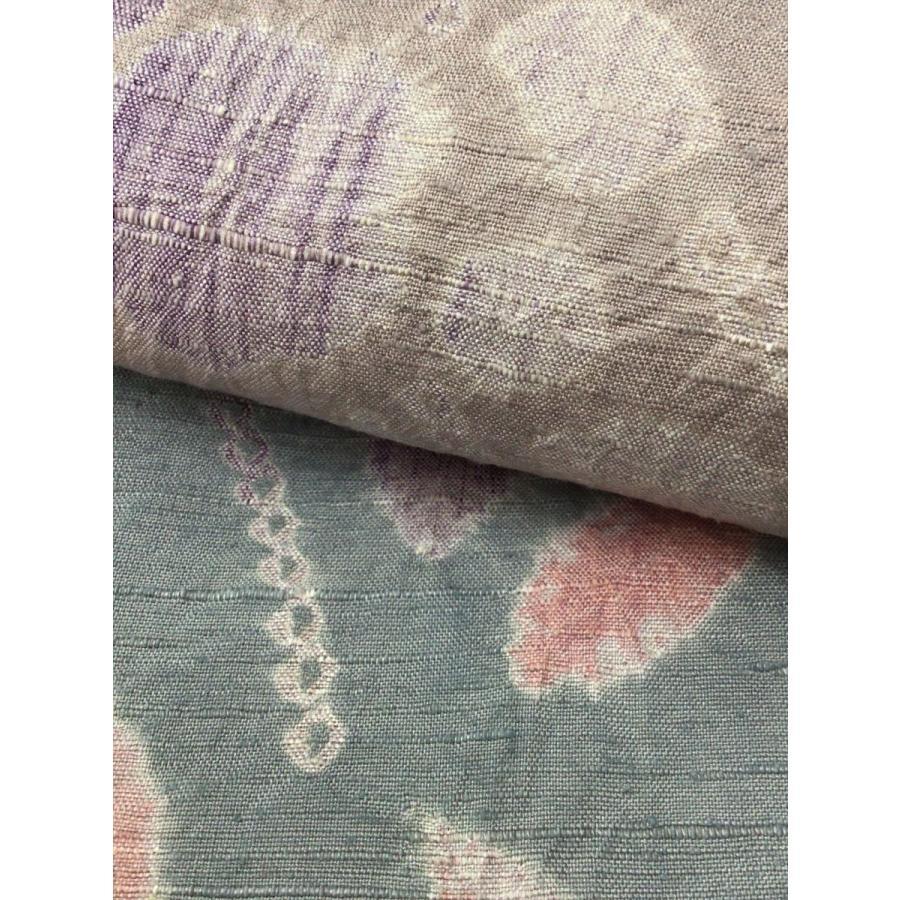 絞り染め紬|kimono-waraji|08