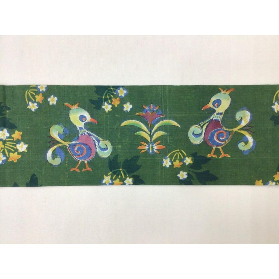 鈴木紀絵作 紬型染名古屋帯|kimono-waraji|03