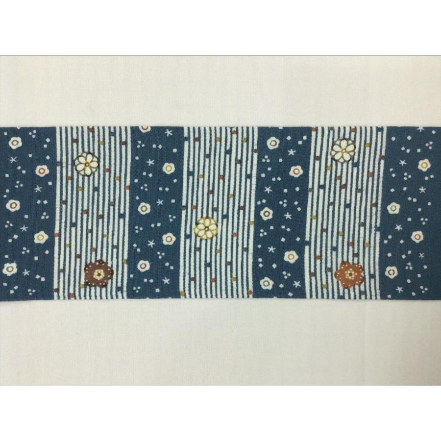 ちりめん型染名古屋帯 kimono-waraji 02