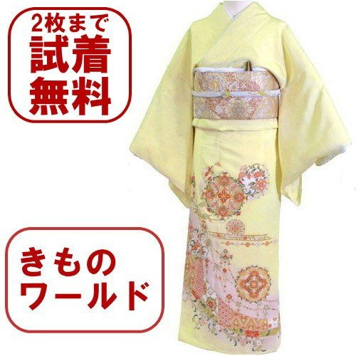 色留袖 レンタル 544番 20点フルセットレンタル 往復送料無料|kimono-world