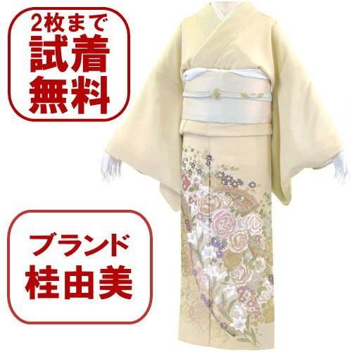 桂由美 花とチャペル 色留袖レンタル 755番 20点フルセットレンタル 往復送料無料|kimono-world