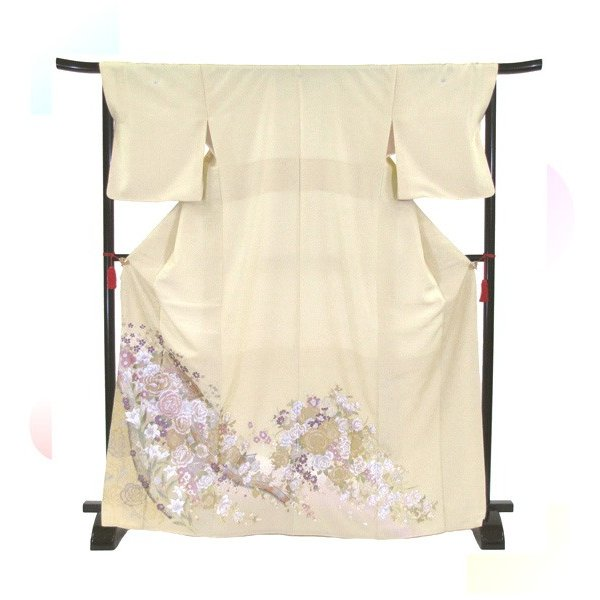 桂由美 花とチャペル 色留袖レンタル 755番 20点フルセットレンタル 往復送料無料|kimono-world|03