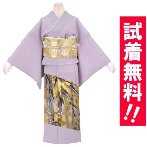 ブランド桂由美/竹林 色留袖 レンタル 807番 20点フルセットレンタル 往復送料無料|kimono-world