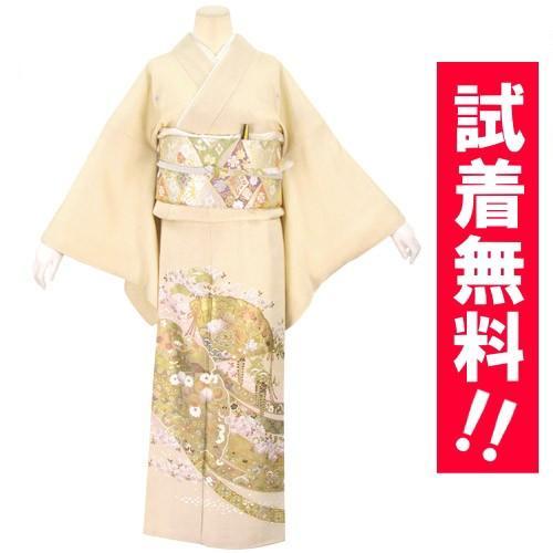 ブランド桂由美/古都の春 色留袖 レンタル 808番 20点フルセットレンタル 往復送料無料 kimono-world