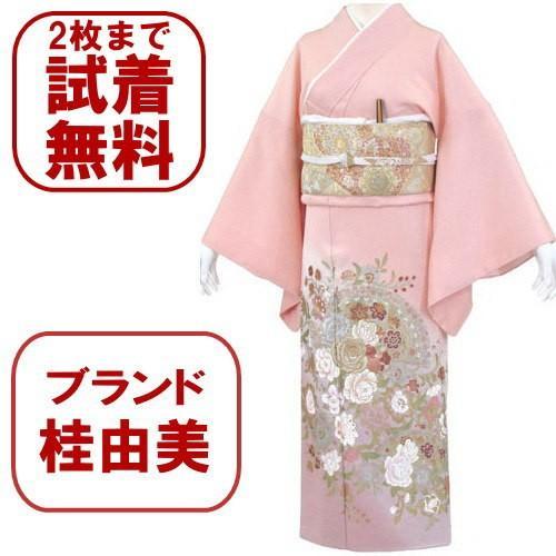 桂由美 薔薇の戯れ 色留袖 レンタル 834番 20点フルセットレンタル 往復送料無料|kimono-world