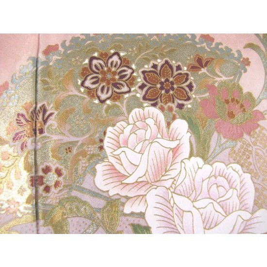 桂由美 薔薇の戯れ 色留袖 レンタル 834番 20点フルセットレンタル 往復送料無料|kimono-world|06