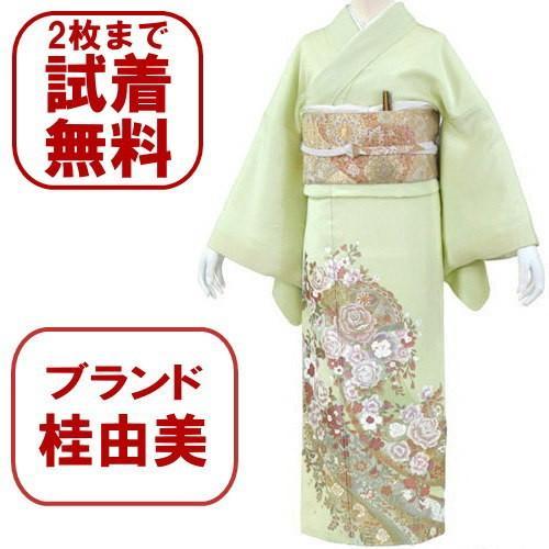 桂由美 花の訪れ 色留袖 レンタル 838番 20点フルセットレンタル 往復送料無料|kimono-world