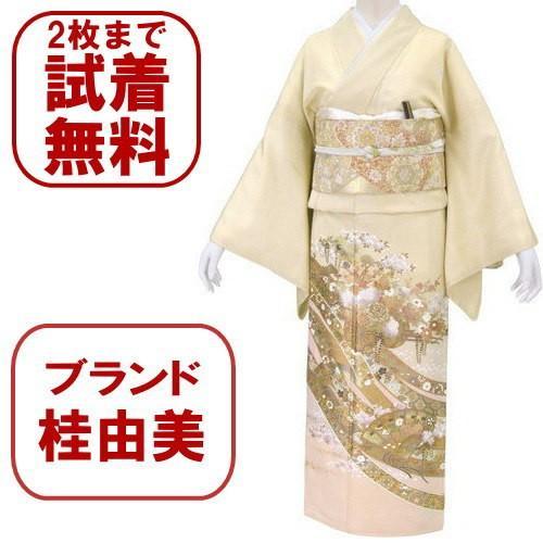 桂由美 江戸の花 色留袖 レンタル 867番 20点フルセットレンタル 往復送料無料 kimono-world