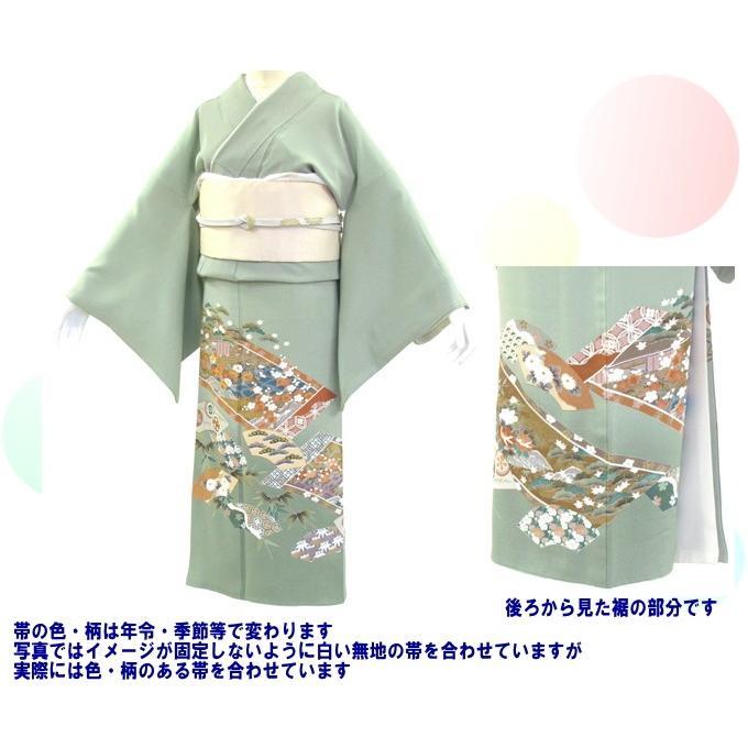 色留袖 レンタル 874番 20点フルセットレンタル 往復送料無料 kimono-world 02