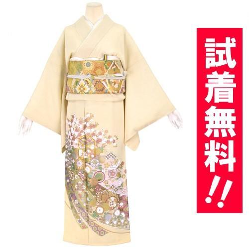 ブランド桂由美/花御殿 色留袖 レンタル 875番 20点フルセットレンタル 往復送料無料 kimono-world