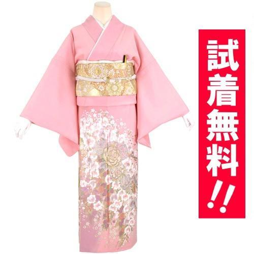ブランド桂由美/ひそやかな花 色留袖 レンタル 884番 20点フルセットレンタル 往復送料無料 kimono-world