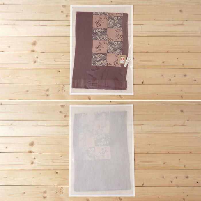 帯揚げ 透明 不織布 収納袋 10枚セット 帯締め 半幅帯 通気性の良い 不織布袋 大切に保存出来る 保存袋 肌着 草履 にも使える|kimonoawawa|04