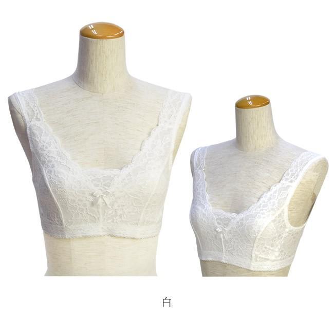 レースブラジャー 白 ベージュ 着物 和装 ブラジャー 大きな胸を平らに美しく 補整 着物用ブラジャー M L LL|kimonocafe-y|05