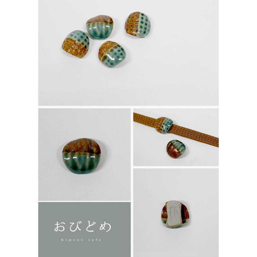 帯留 焼き物 帯止め 帯どめ 陶器 小ぶり 着物 作家|kimonocafe-y|02
