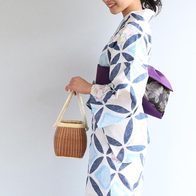 サンプル品&展示品のためお買い得! 高級竹かご 小 デザインおまかせ 籠 カゴバッグ かご バッグ|kimonocafe-y|03