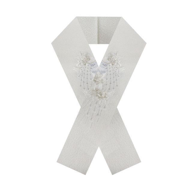 振袖 半襟 刺繍 孔雀と牡丹刺繍 ラメ ブライダル 礼装 色内掛 和婚 ママ振袖 結婚式 成人式 卒業式|kimonocafe-y|06