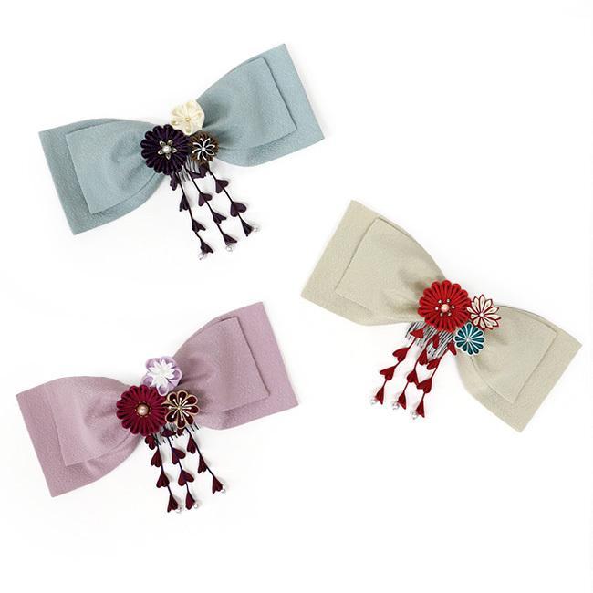 髪飾り つまみ細工  花 赤 黒 白 紫 成人式 振袖 七五三 kimonocafe-y 05