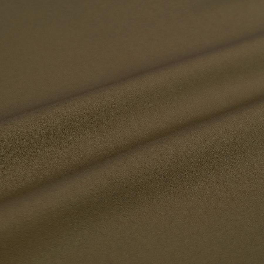 お召 御召 メンズ 男性用 黄茶 昆布茶 無地 紅花染 紅花の里工房 反物 着尺 準礼装 セミフォーマル お洒落着 カジュアル かっこいい 粋 渋い モダン No.88-1518