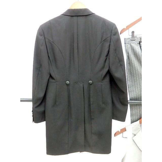 男礼服823 フロックコート サイズAB2 3点セット レンタル処分品 貸衣装 中古 リサイク  メンズ フォーマル 礼服 フォトウエディング kimonodoraku 04