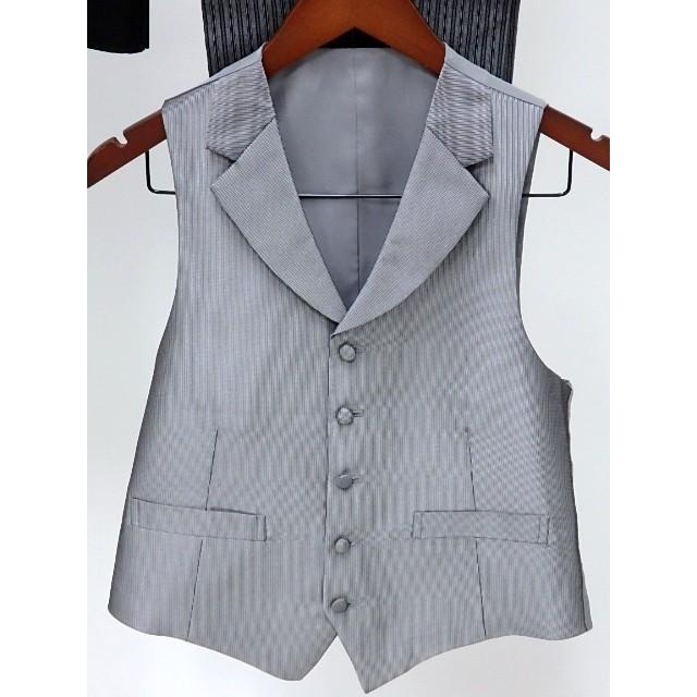 男礼服823 フロックコート サイズAB2 3点セット レンタル処分品 貸衣装 中古 リサイク  メンズ フォーマル 礼服 フォトウエディング kimonodoraku 05