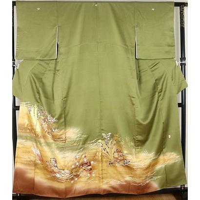 【5%OFF】 色留袖 正絹 熨斗束文 15号 ki23470 公式行事にはお着物で, サンセイタイヤサービス 3bc8e4eb