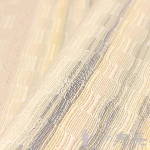 お洒落帯八寸名古屋帯 首里総道屯織 ロートン織 薄ピンク紫色  新品 手織り 未仕立|kimonojyuan|04