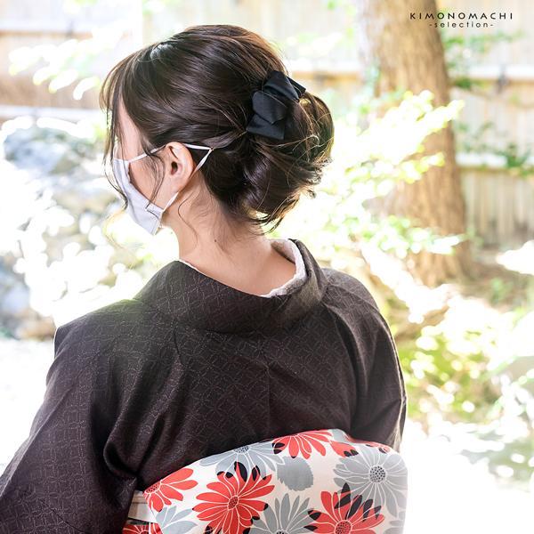 マスクバンド おしゃれ 耳が痛くならない 「リボン型 ブラック ネイビー ベージュ ピンク 全4色」 マスク ストラップ 髪飾り 耳紐 (メール便可)|kimonomachi|11