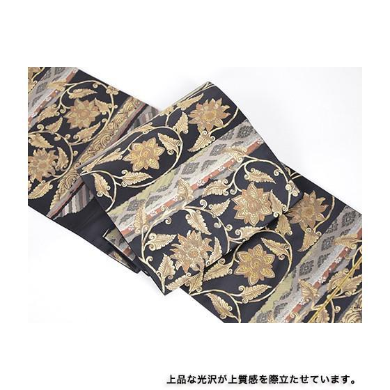 名門「となみ」謹製 特選西陣袋帯「宝相華紋」黒地|kimonotanaka|02